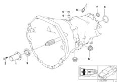 Gearbox parts SMG BMW 3' E46, M3 CSL (S54) — BMW parts catalog