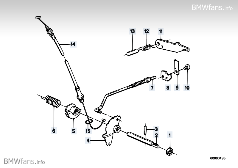 Zf 4HP22/24 gear shift/parking lock BMW 7' E23, 728i (M30