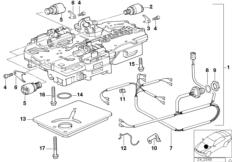 Zf 4HP22/24-H control unit+attach.parts BMW 3' E30, 325i
