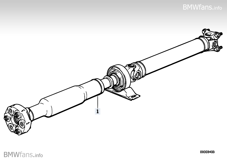 Drive shaft (swivel joint) BMW 3' E30, M3 (S14) — BMW