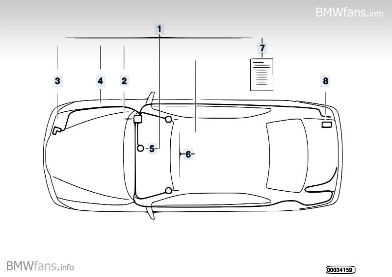 Alarm system BMW Z3 E36, Z3 2.0 (M52) — BMW parts catalog