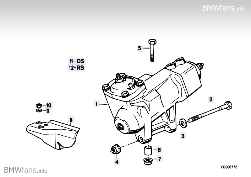 Bmw steering rack adjustment