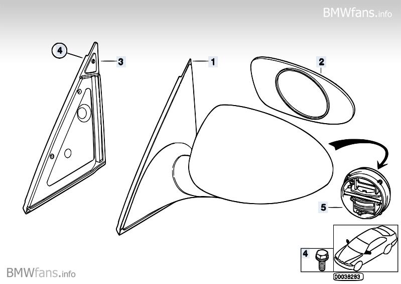 M Outside mirror BMW 5' E39, M5 (S62) — BMW parts catalog