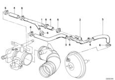 Vacuum control — engine BMW 5' E28, 520i (M20) — BMW parts