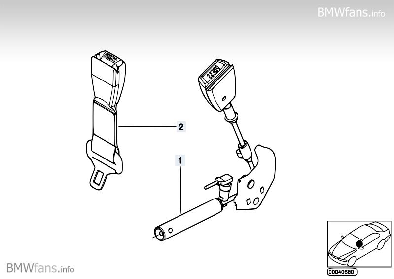 Lower strap, front BMW 5' E39, 530d (M57) — BMW parts catalog