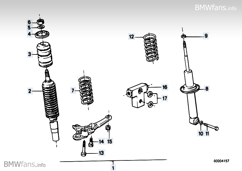 Sports suspension m technic BMW 7' E23, 728i (M30) — BMW