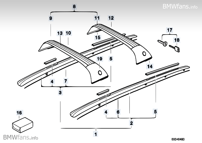 Cross member BMW 5' E34, 525tds (M51) — BMW parts catalog
