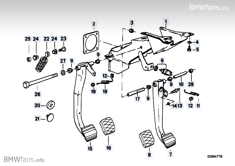Which other BMW pedals will fit an E28? • MyE28.com