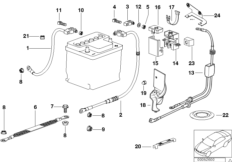 Engine electrical system — illustrations BMW 3' E36, 318is