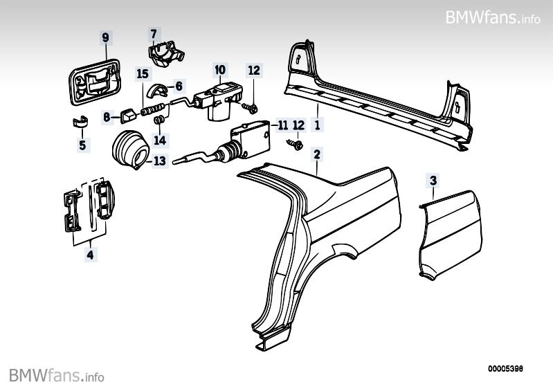 Side panel/tail trim BMW 5' E34, 525i (M50) — BMW parts