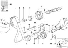 Twin Mass Flywheel BMW 3' E30, 320i (M20) — BMW parts catalog