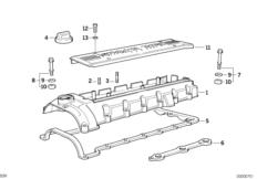Crankcase-Ventilation/oil separator BMW 3' E36, M3 (S50