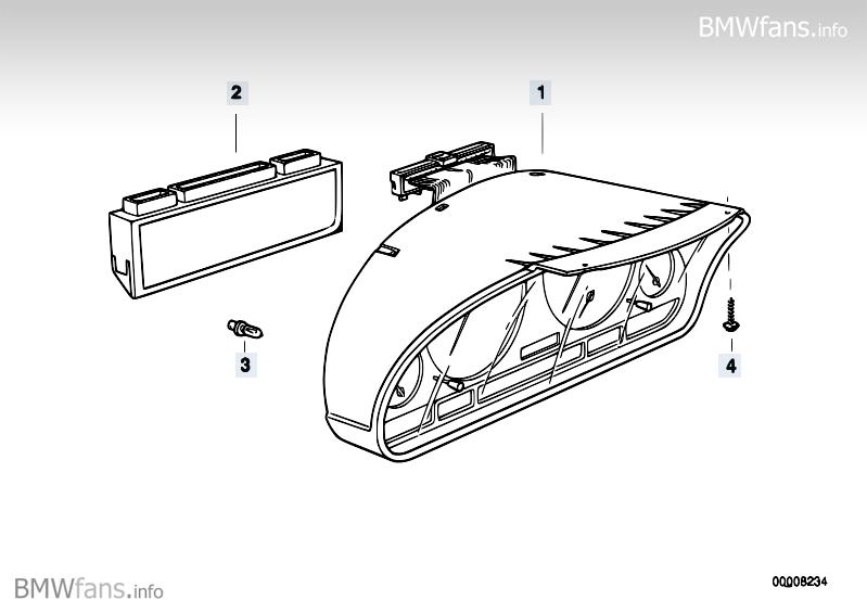 Instrument cluster BMW 5' E39, 520i (M52) — BMW parts catalog