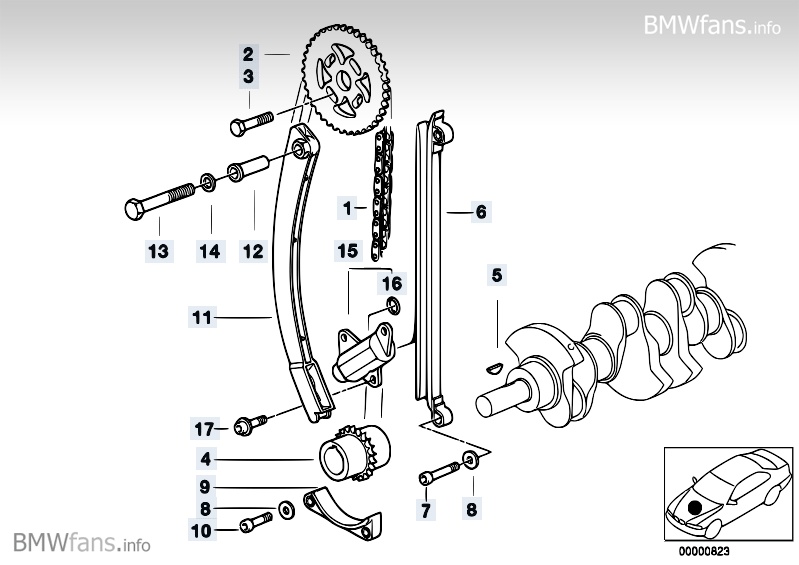 Bmw E36 Parts Timing Marks Diagram, Bmw, Free Engine Image