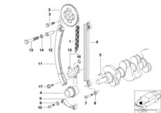 Valve Timing Gear — Cam Shaft BMW 3' E36, 318i (M43) — BMW