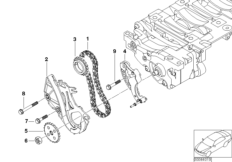 Oil pump and compensating shaft unit BMW 3' E90 Facelift