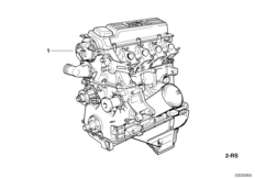 Engine — illustrations BMW 3' E36, 318tds (M41) — BMW