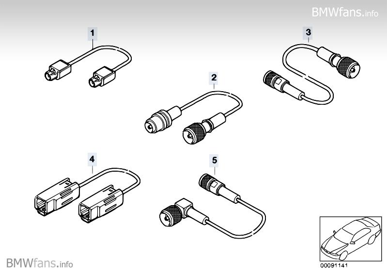 Aerial line, telephone BMW 7' E38, 740d (M67) — BMW parts