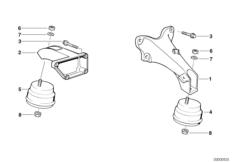 Engine — illustrations BMW 3' E36, 318tds (M41) — BMW