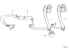 Restraint system and accessories — illustrations BMW 5