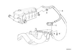 Engine — illustrations BMW 3' E46, 318i (M43) — BMW parts