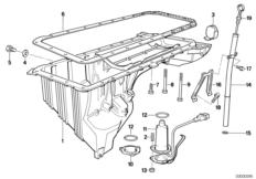 Engine — illustrations BMW 5' E34, 525i (M50) — BMW parts