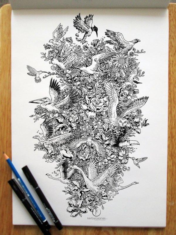 Pen Doodles Sketches Drawings