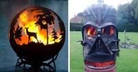 12+ Beautiful Metal Firepits That Are Works Of Art   Bored ...