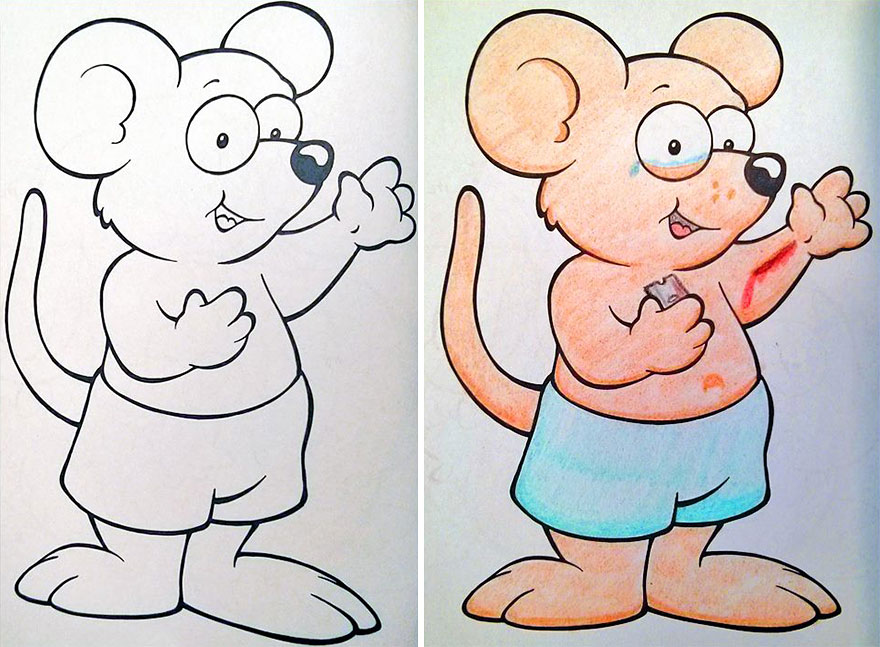 Funny Children Coloring Book Corruptions
