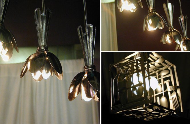 Upcycled Silverware Lights