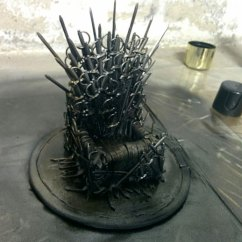 Game Of Throne Chair On Exercises Phones Girl Makes A Mini Diy Iron Stand For Her Phone