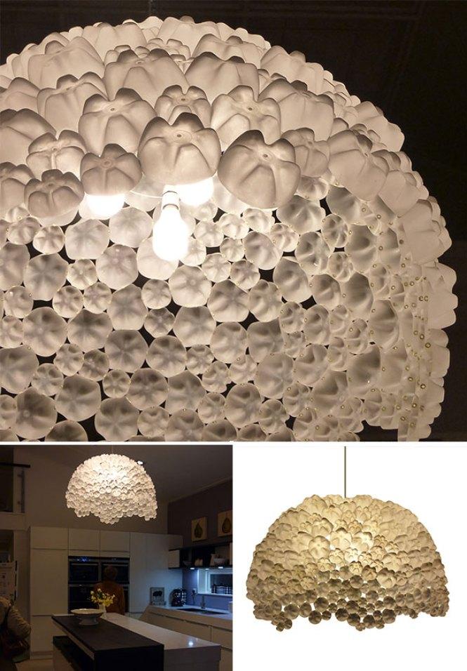 Kerajinan Hiasan Lampu Dari Botol Bekas