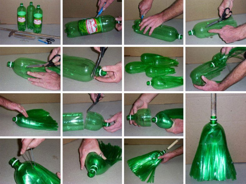 Kerajinan Sapu Plastik Dari Botol Bekas