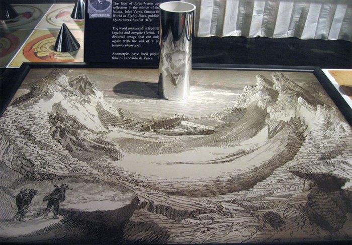 best anamorphic mirror cylinder art