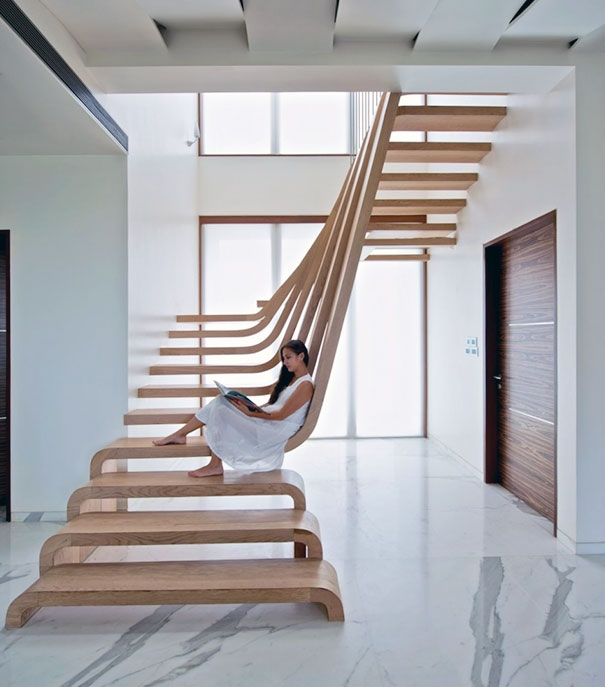 22 Beautiful Stairs That Will Make Climbing To The Second Floor | 2Nd Floor Stairs Design | Floor Plan | Low Cost | Outside | Unique | Contemporary