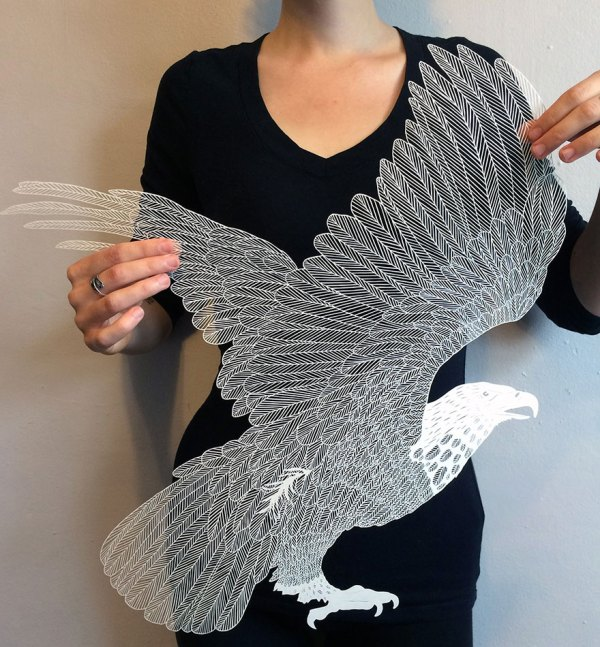 Incredibly Intricate Hand-cut Paper Art Maude White