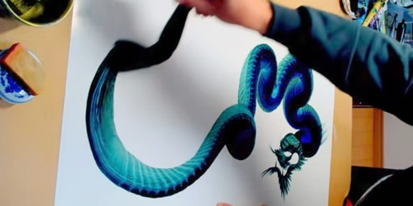 Single Stroke Dragon Painting Japanese