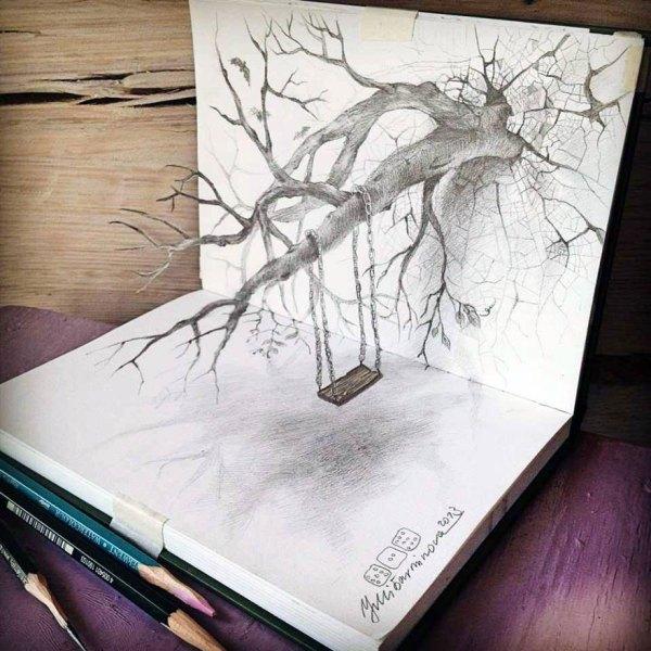 Of 3d Pencil Drawings Bored Panda
