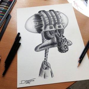 pencil drawings dino realistic tomic expressive drawing cool bored panda atomiccircus