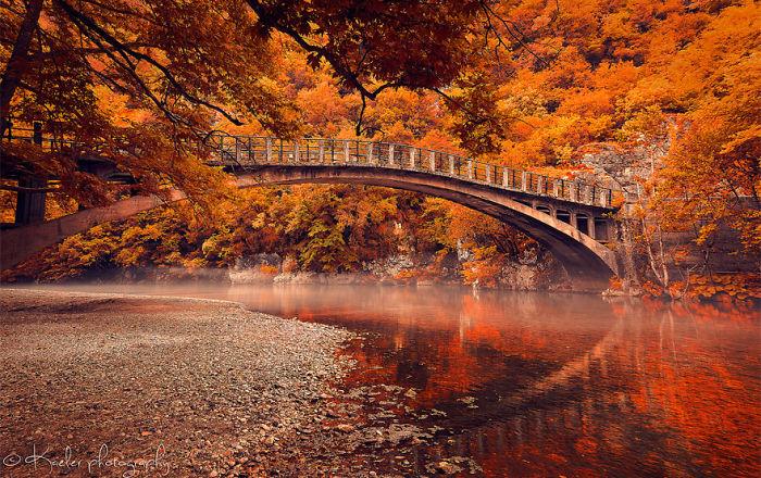 Wallpaper For Iphone X App Bridge Over Voidomatis River Vikos Gorge Greece Bored