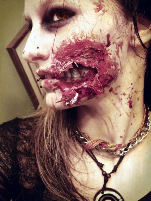 Ripped Flesh Wound Make Up