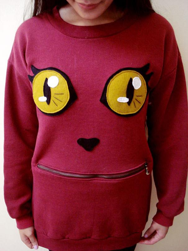 Diy Cat Sweater : sweater, Awesome, Zipper-Mouth, Sweater, Actually, Bored, Panda