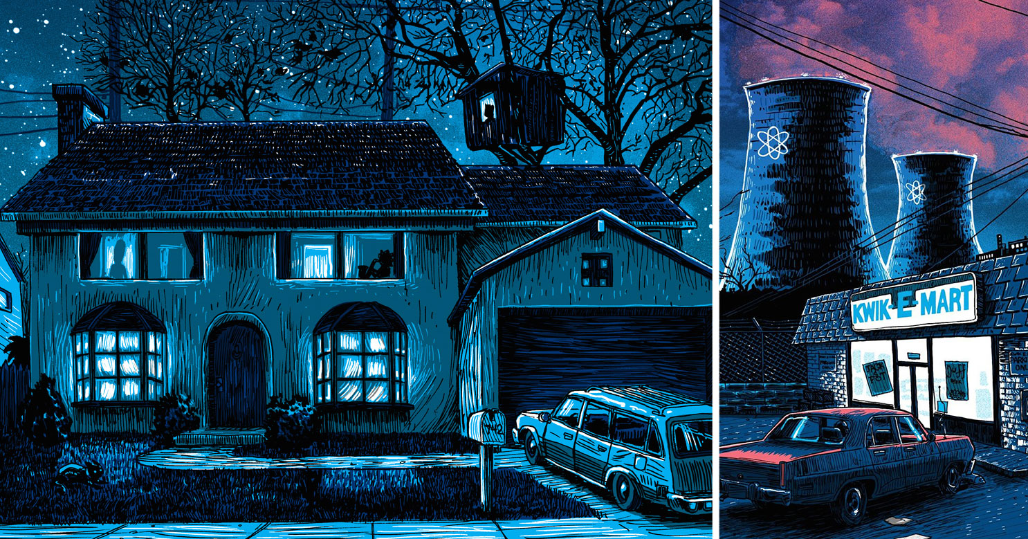Illustrated Car Wallpaper The Simpsons Springfield Illustrated As A Deadbeat Town