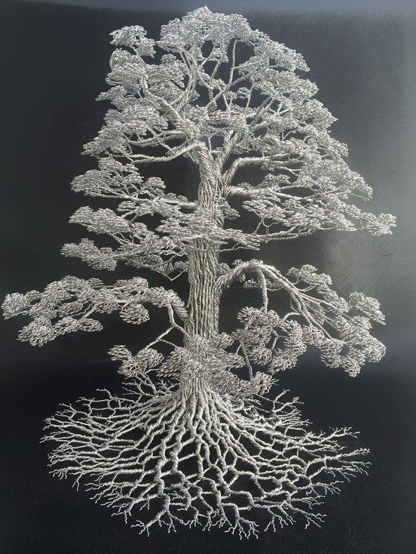 Artist Makes Intricate Tree Sculptures Twisting Single