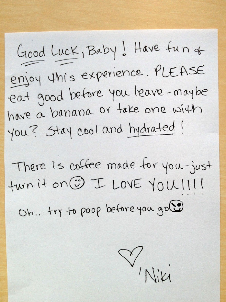 Good Luck Note