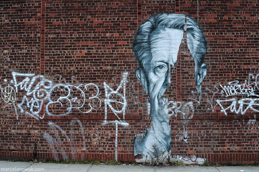 Street Art ArtRubic - Awesome mechanical shark mural phlegm