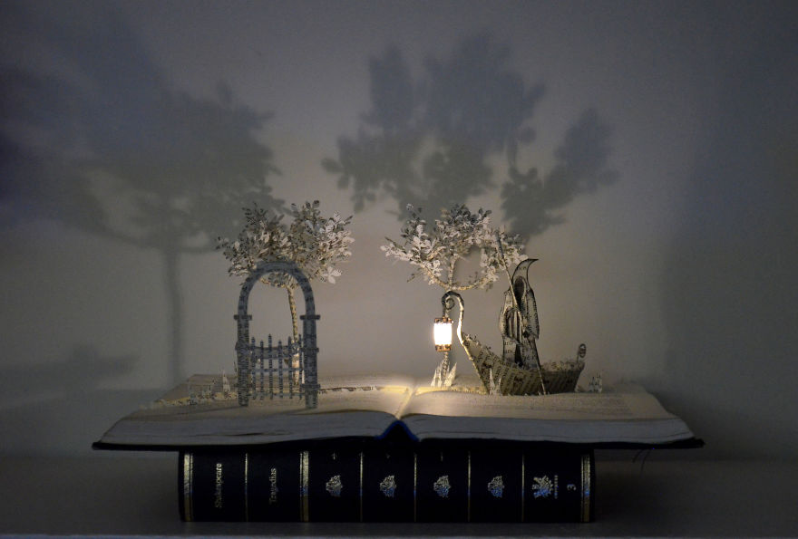 """charon And The Door To A World Of Dreams"" Book Sculpture"