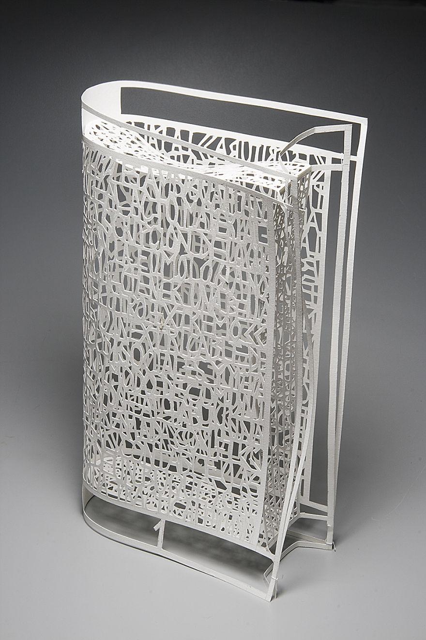 "Artist: Pablo Lehmann - ""naked Book"" (26 X 15 X 6 Cm.) Cut-out Paper 2007"