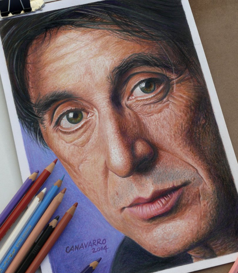 Pacino Nestor Canavarro2  880 - Os desenhos hiper realistas de Nestor Canavarro