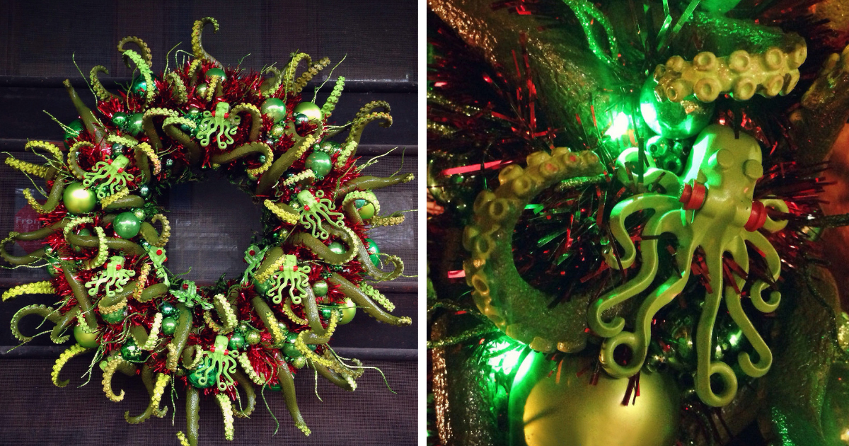 I Just Completed My Cthulhu Themed Christmas Wreath So